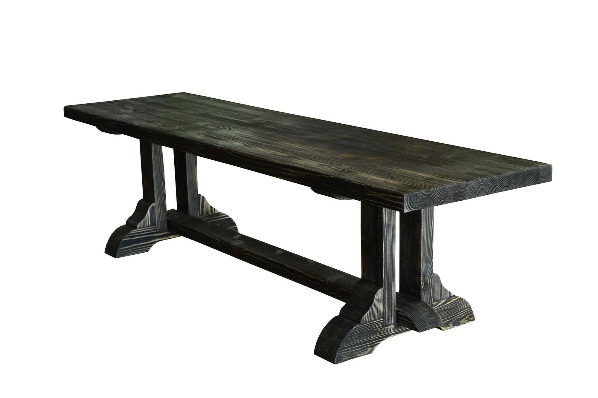 Черный обеденный стол из сосны