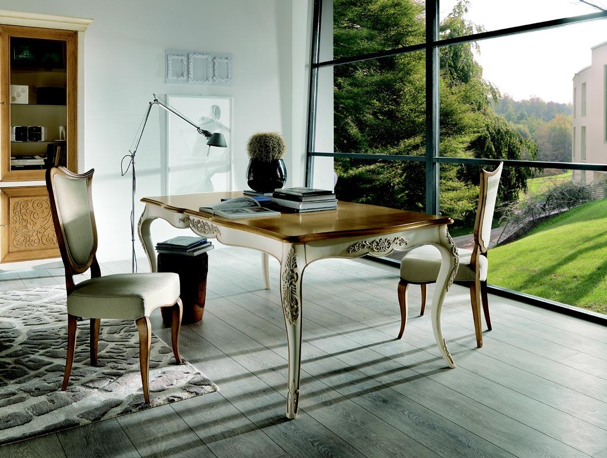 Классическая мебель из вишни для кабинета