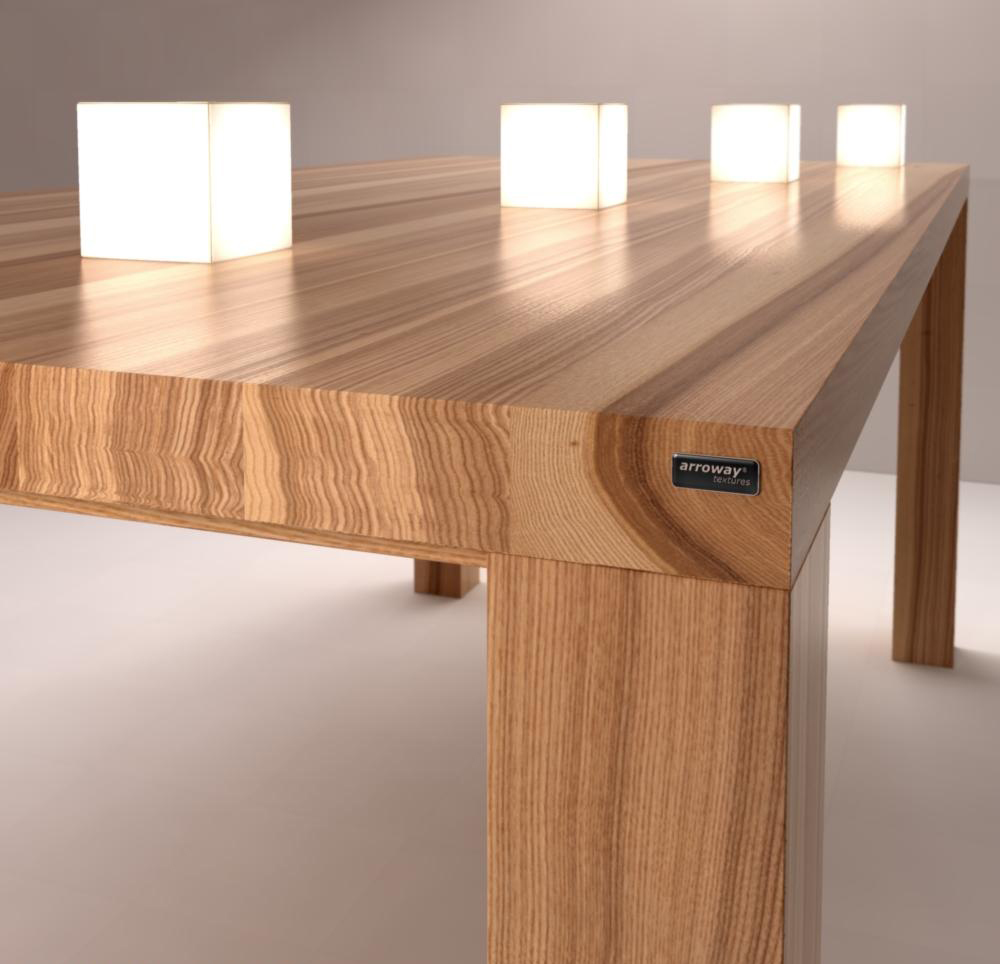 Обеденный современный стол из ясеня
