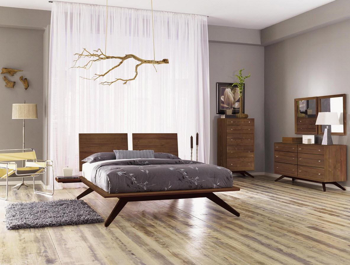 Мебель из ореха в спальне
