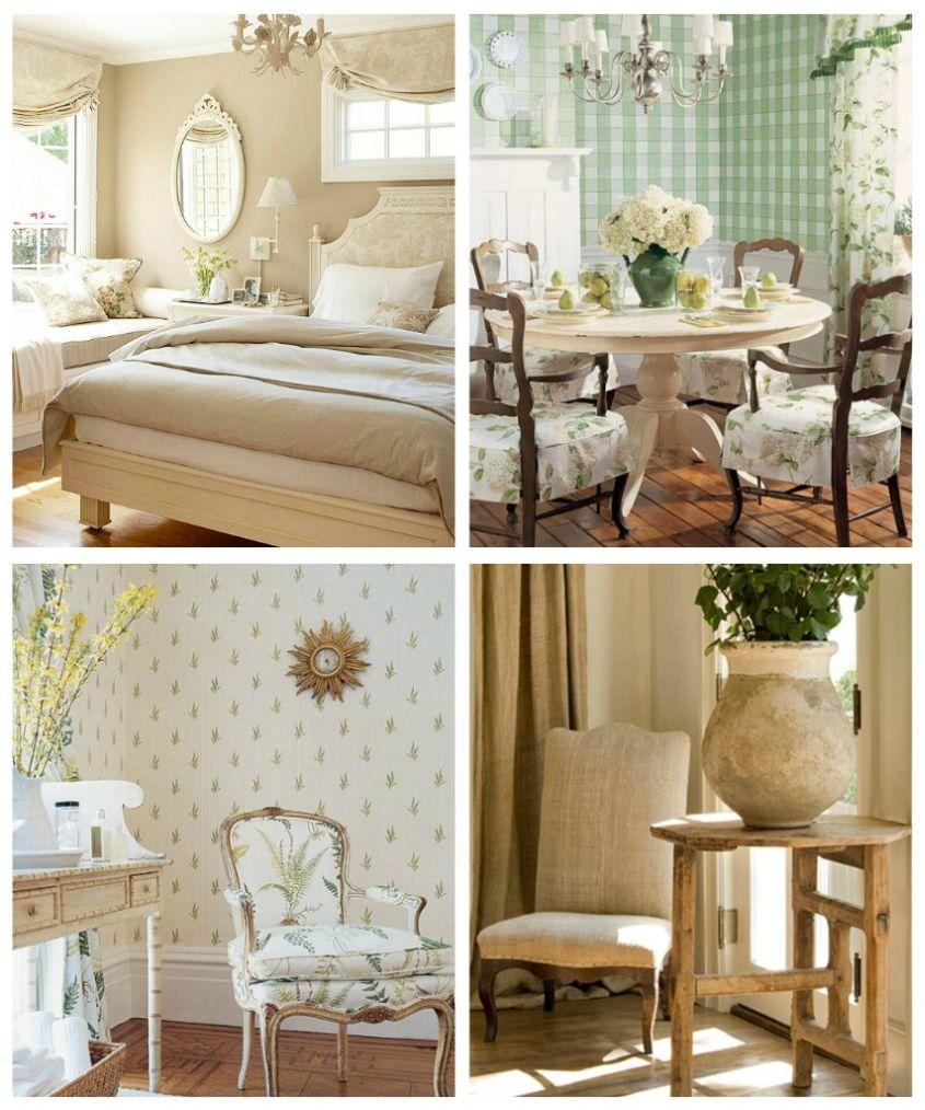 Разнообразная мебель в стиле прованс