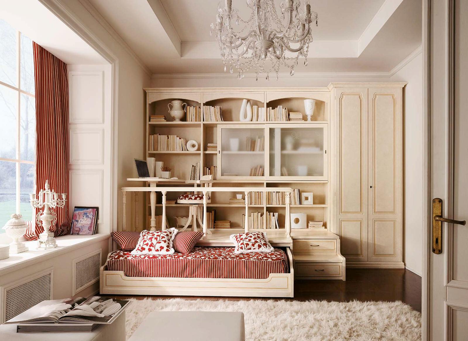 Бежевая мебель для детской в стиле прованс