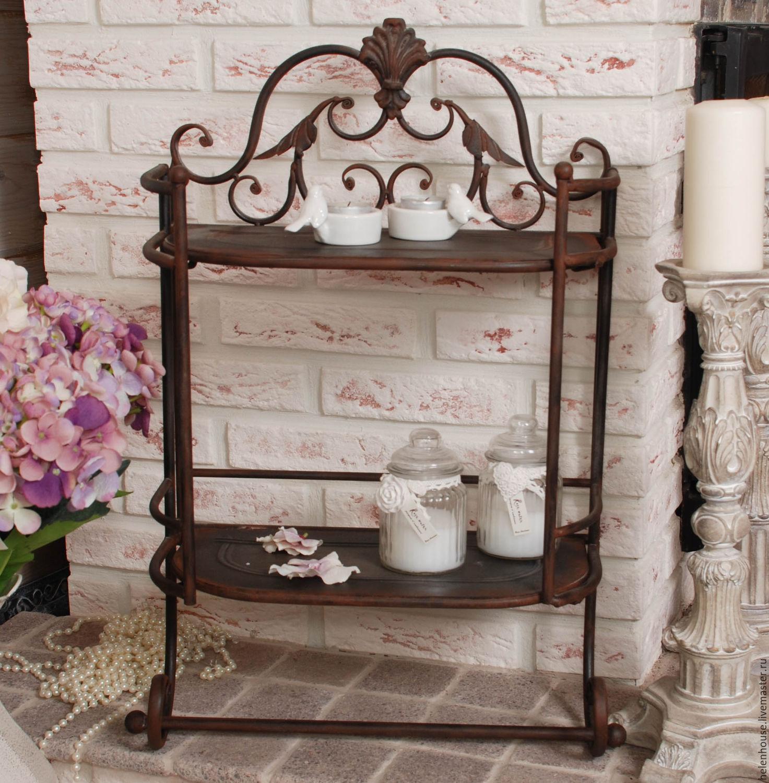 Этажерка для украшения интерьера в стиле прованс