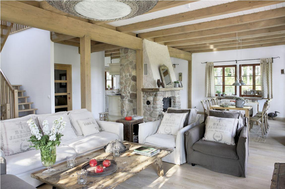 Белая и серая мебель в стиле прованс в гостиной