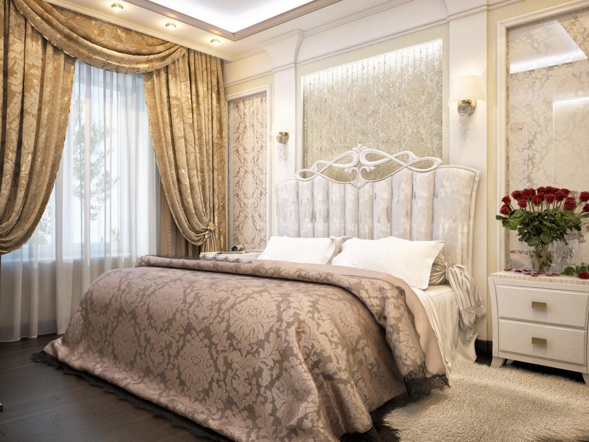 Белая мягкая мебель в классической спальне