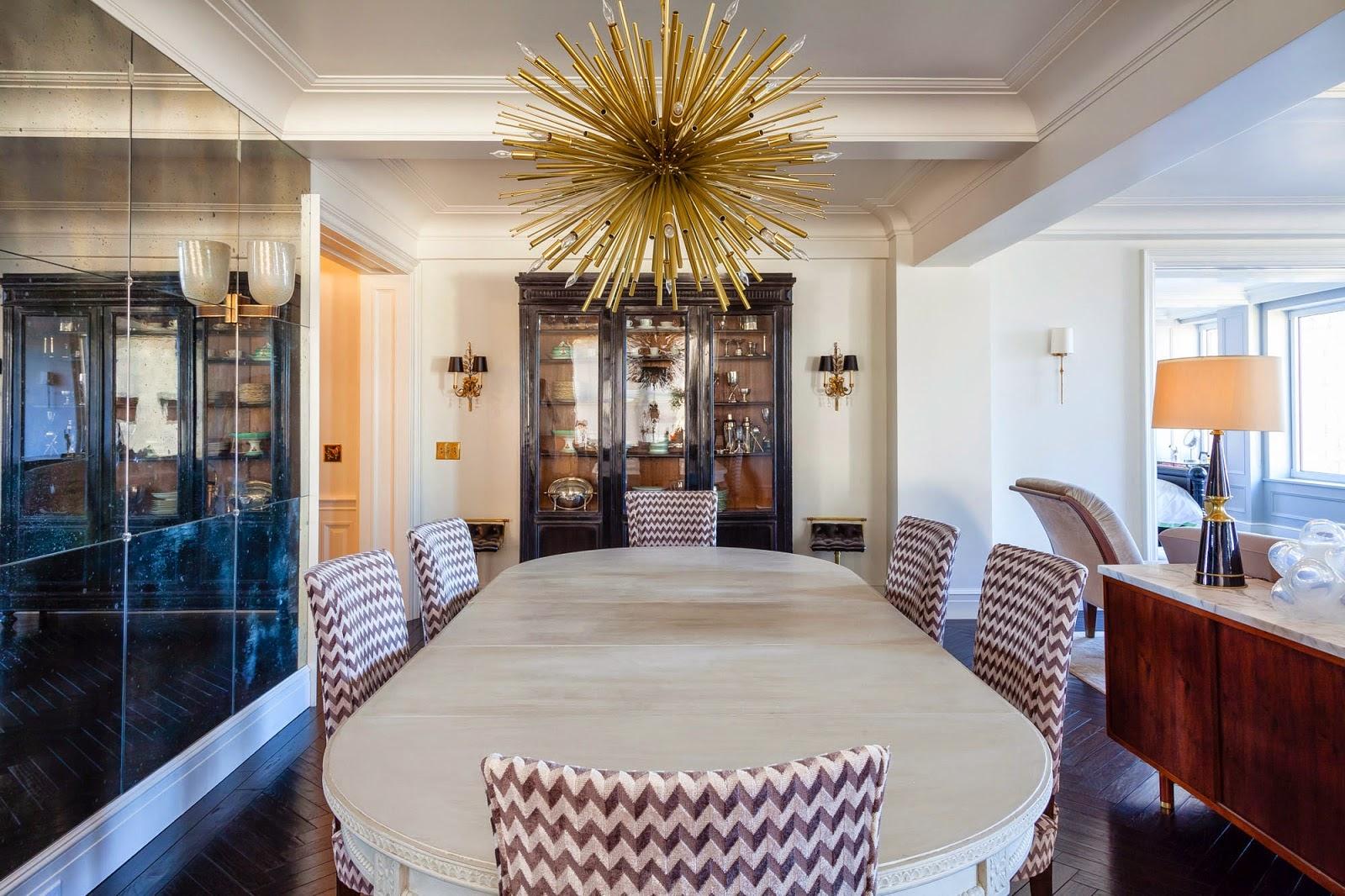 Бежево-коричневая и черная мебель в стиле арт-деко