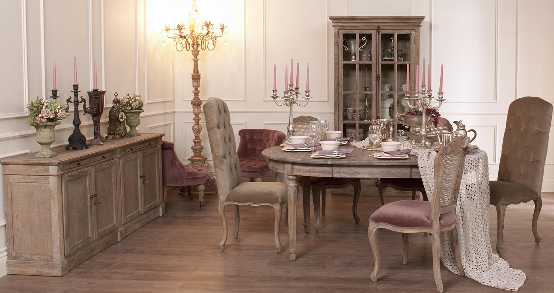 Мебель в столовой в стиле кантри