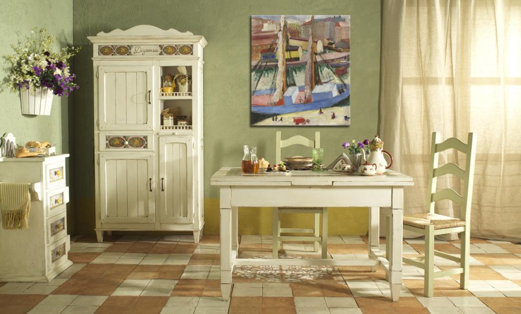 Деревянная кухонная мебель в стиле кантри