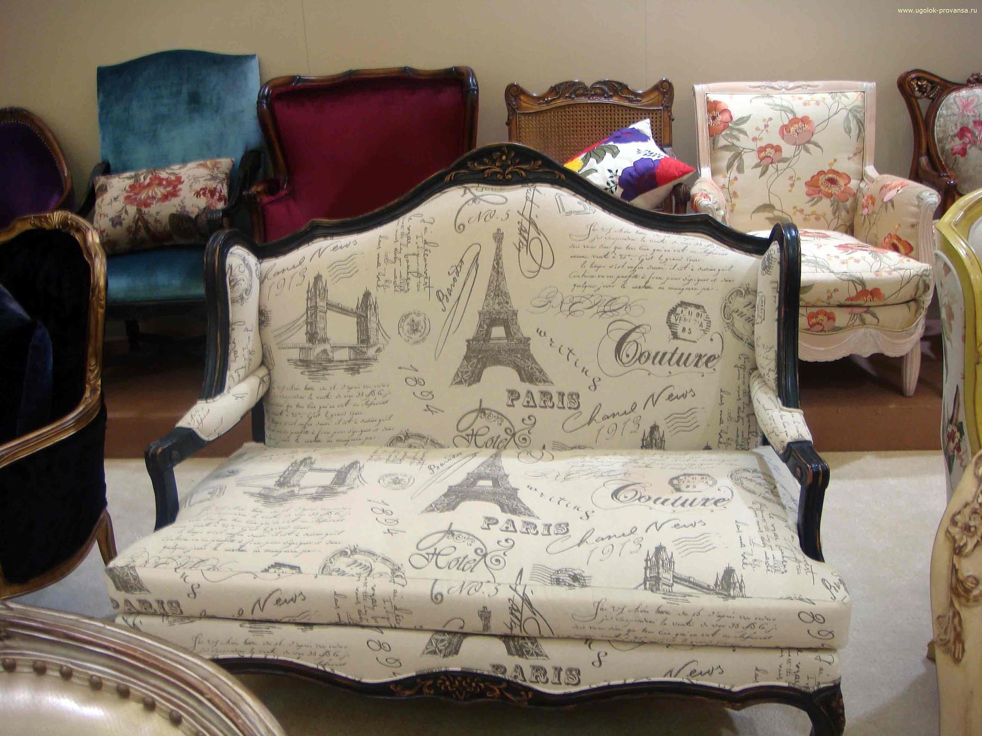 Уютный диван для французского стиля кантри