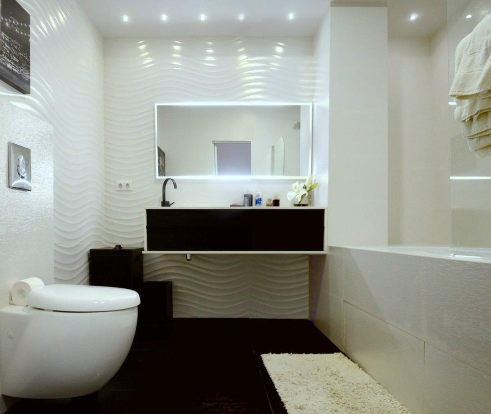 Черно-белая мебель в стиле минимализм