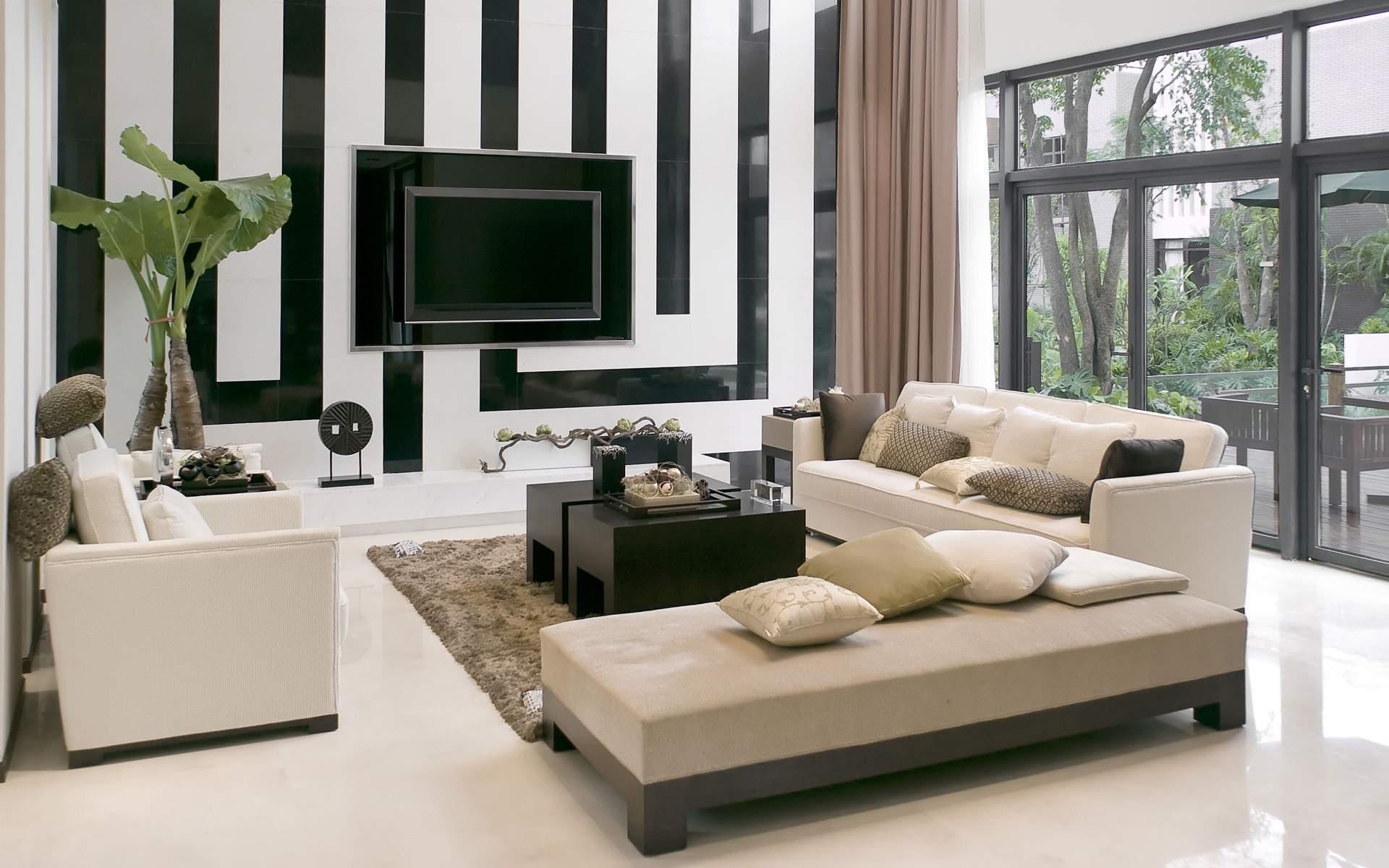 Модная гостиная в стиле модерн