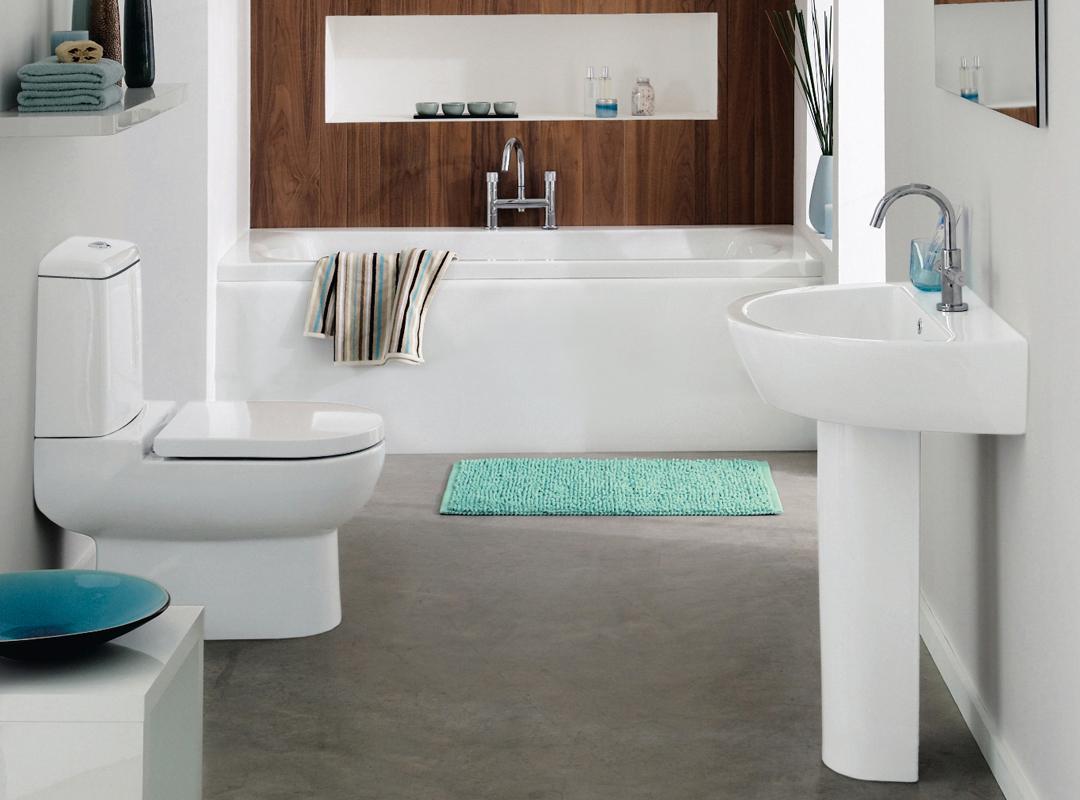 Уютная ванная в стиле модерн