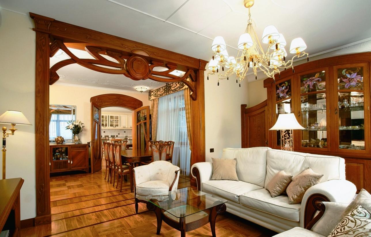 Коричневая и коричнево-бежевая мебель для интерьера в стиле модерн