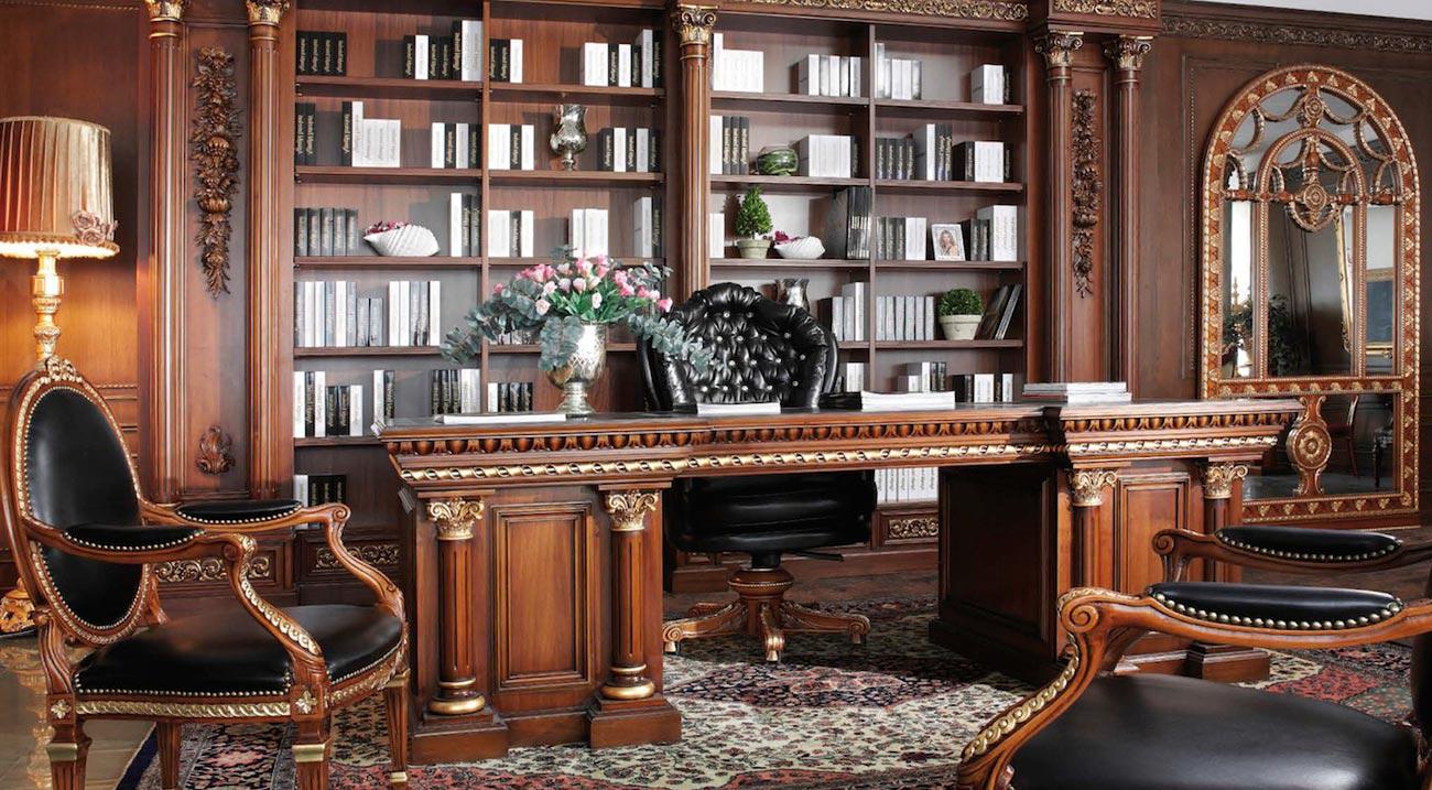 Красивая мебель в кабинете в стиле модерн