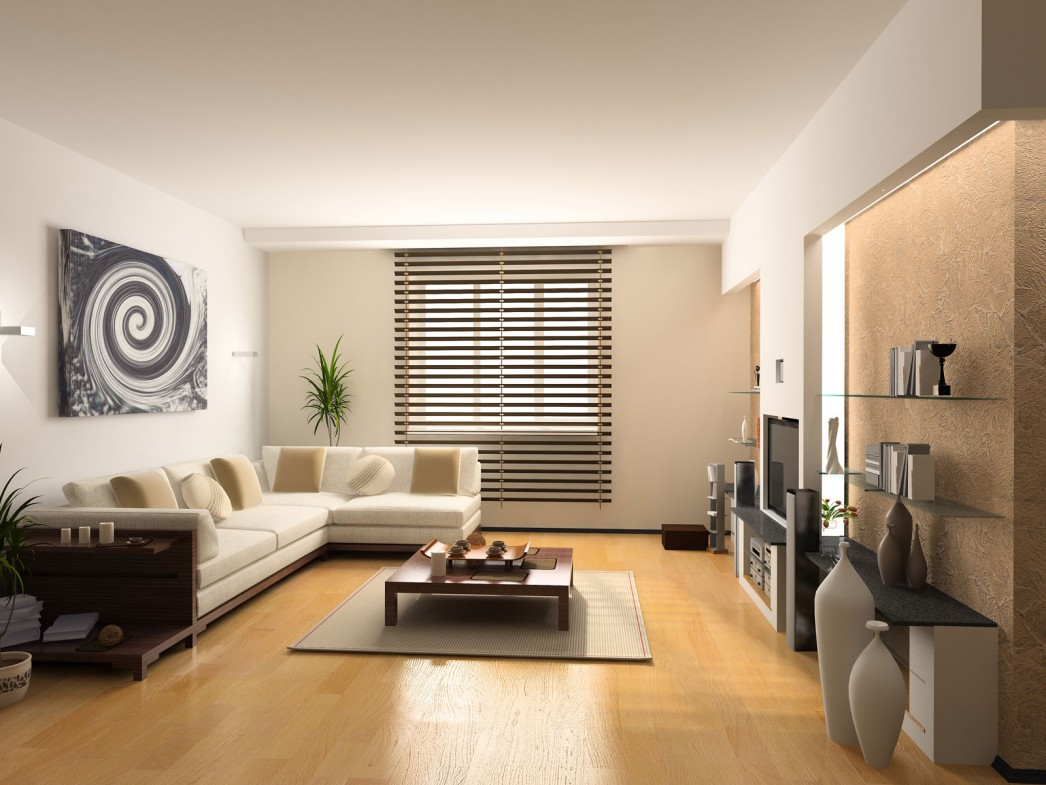 Диван и стенка в стиле модерн в гостиной