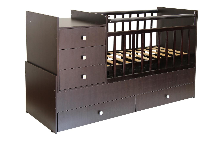 Кроватка венге с ящиками