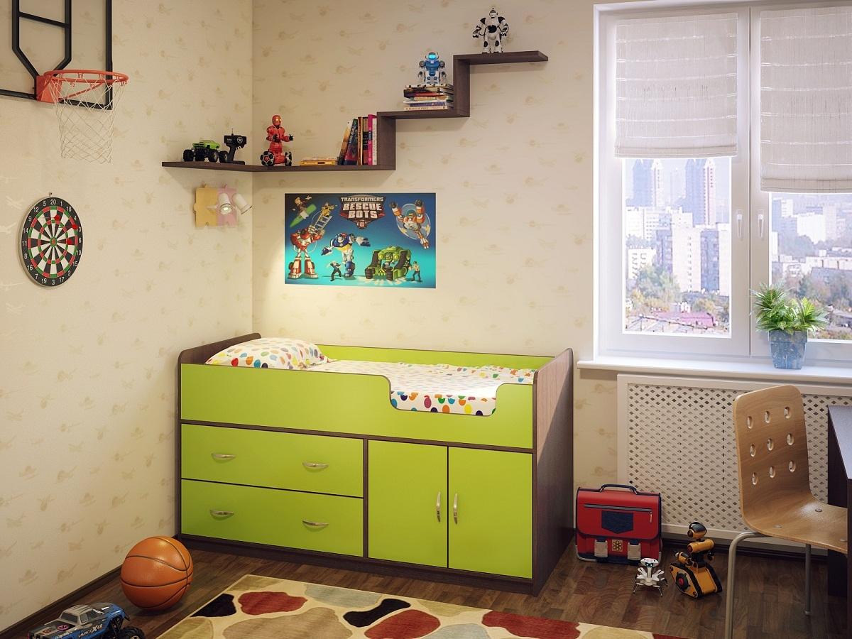 Интерьер детской с кроваткой венге