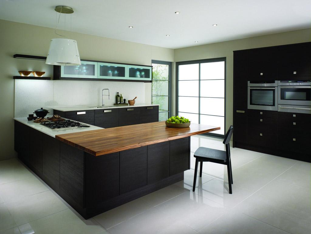Мебель венге в интерьере современной кухни