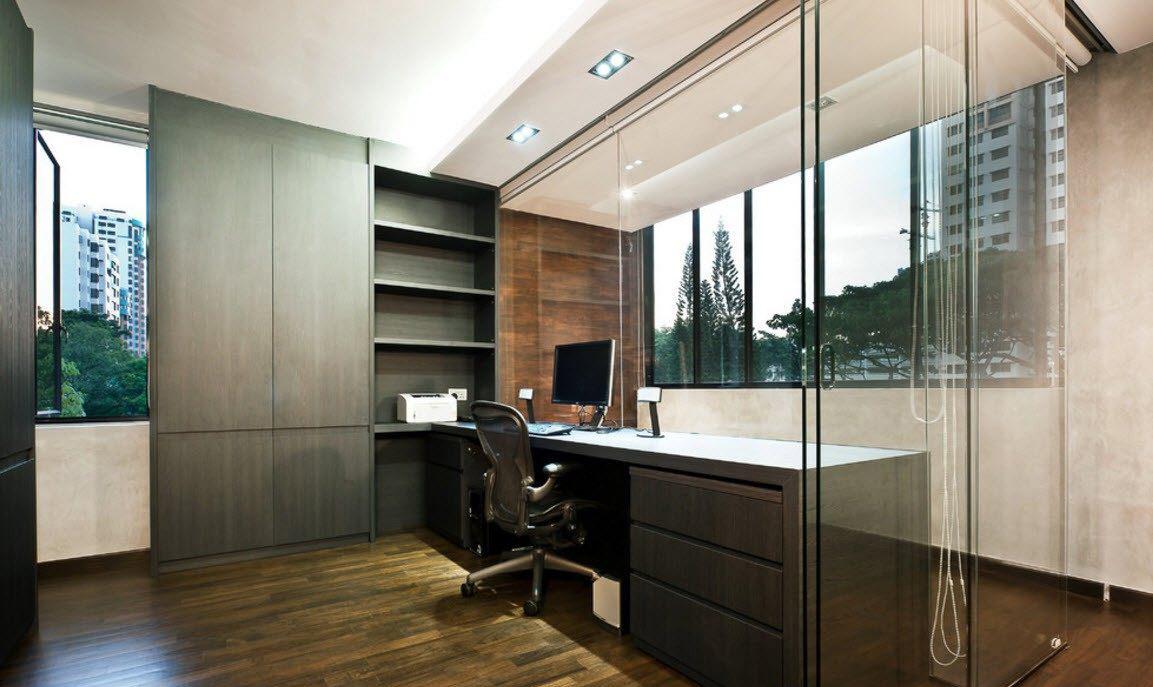 Мебель венге в интерьере кабинета