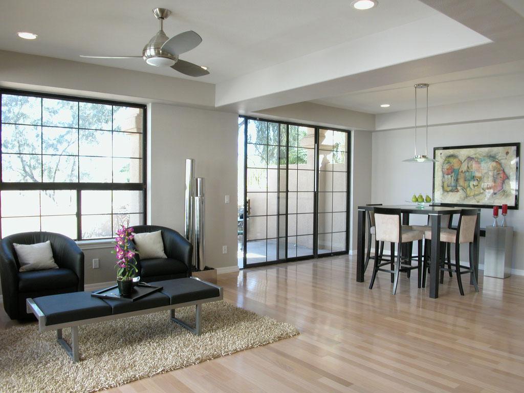Мебель венге в интерьере гостиной-столовой