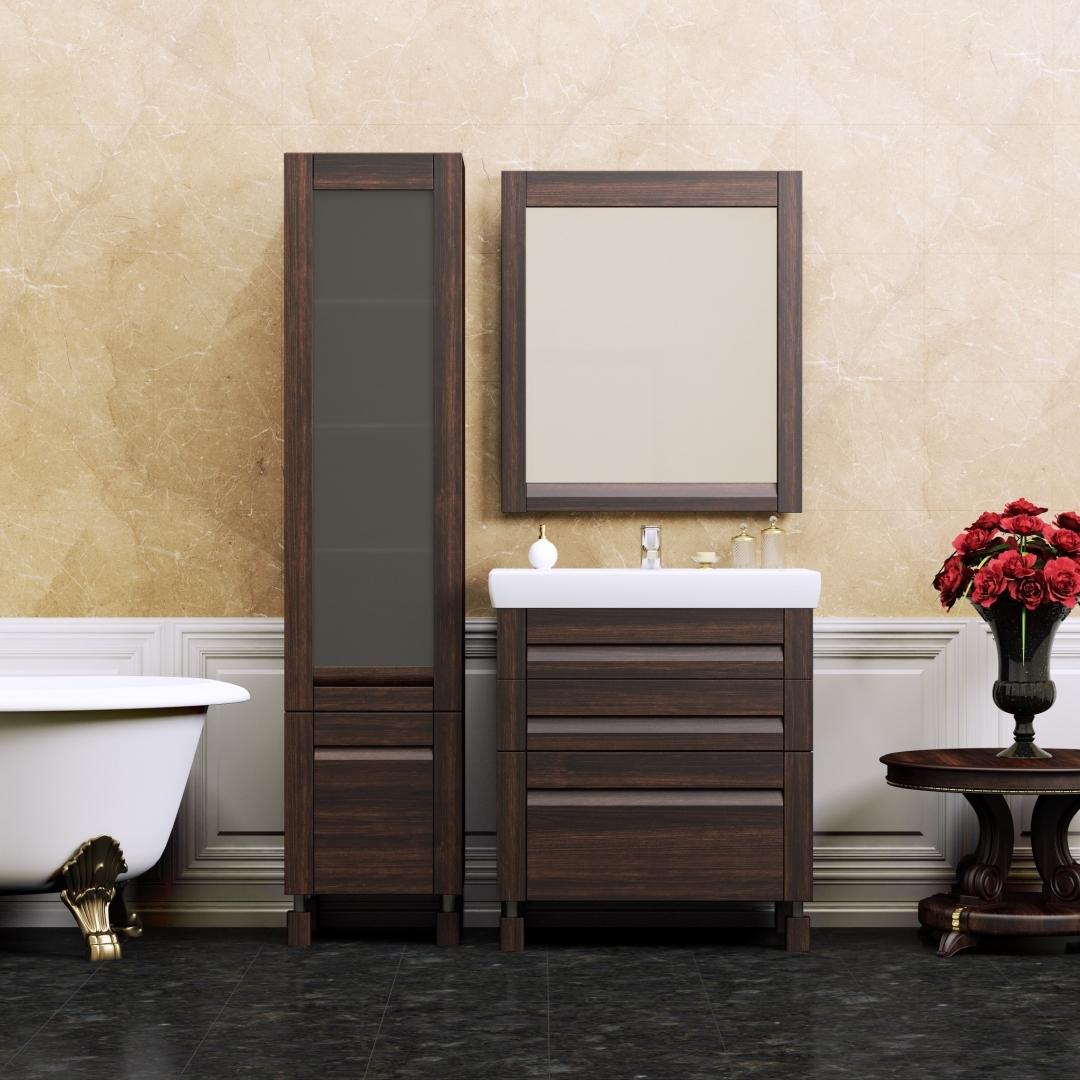 Мебель венге в интерьере ванной