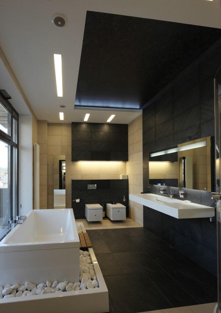 Красивая ванная в стиле хай-тек