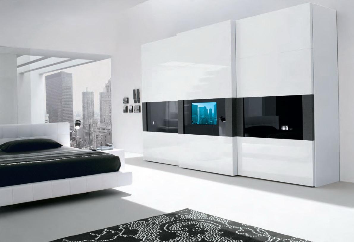 Черно-белая мебель в стиле хай-тек