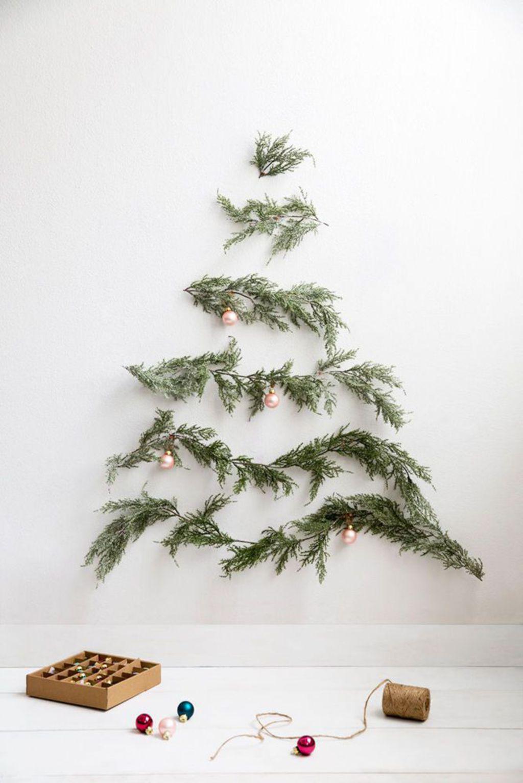 Оформление новогодней елки в стиле минимализм