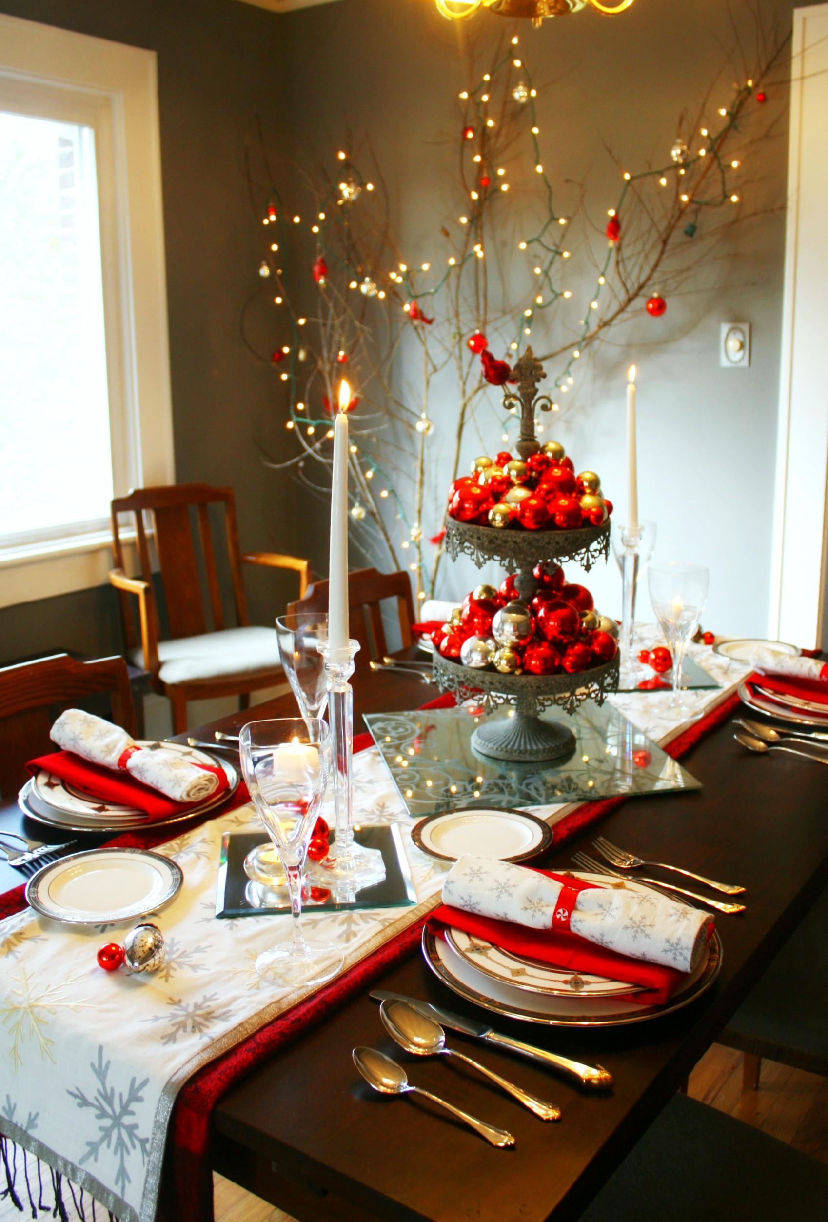 Красивое оформление новогоднего стола