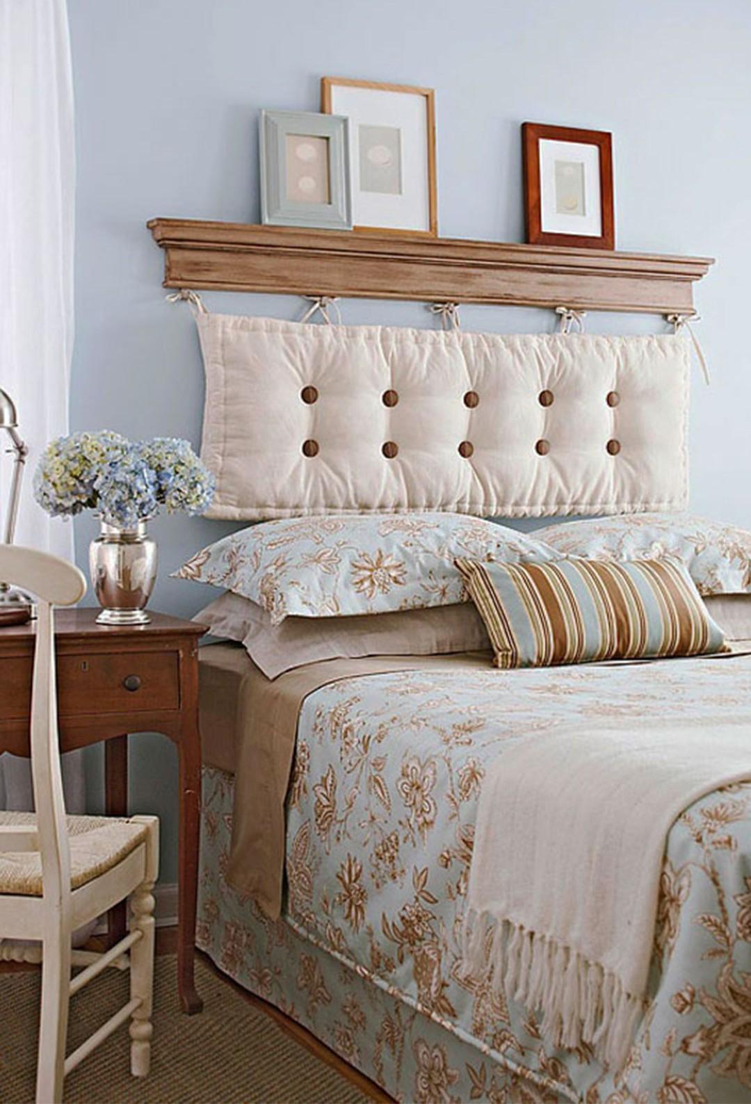 Необычное оформление изголовья кровати