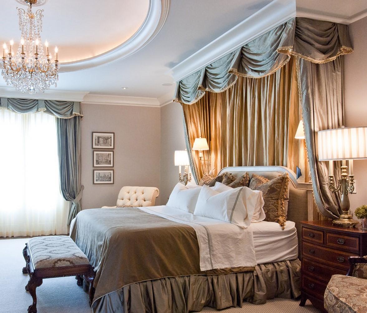 Декоративный полог над кроватью