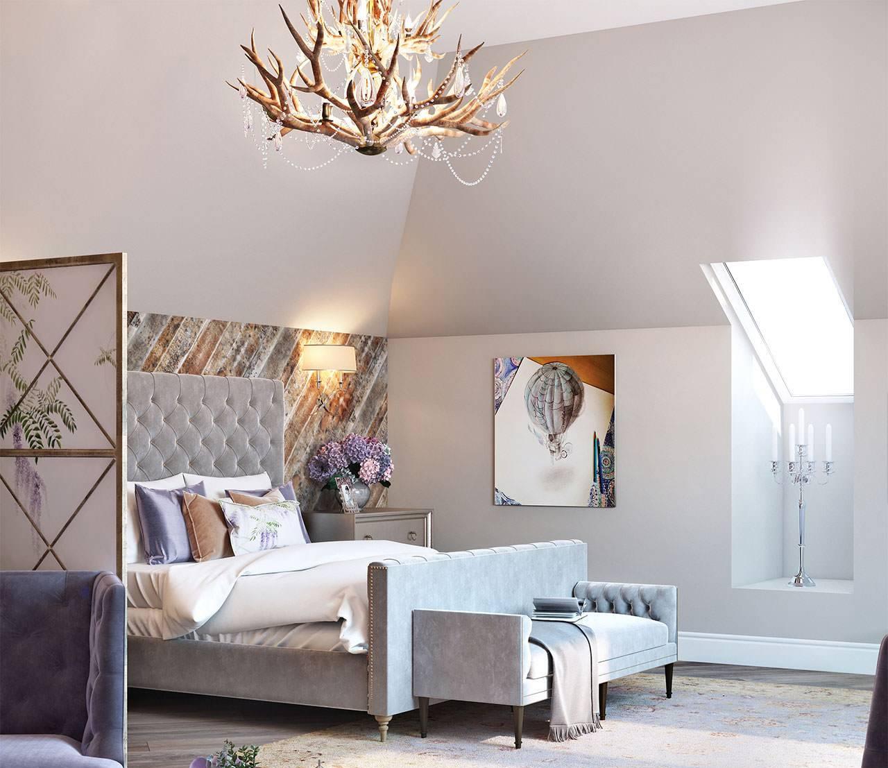 Необычное световое оформление спальни