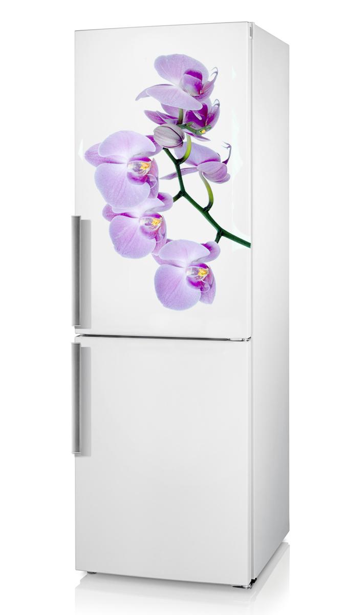 Холодильник с изображением орхидеи
