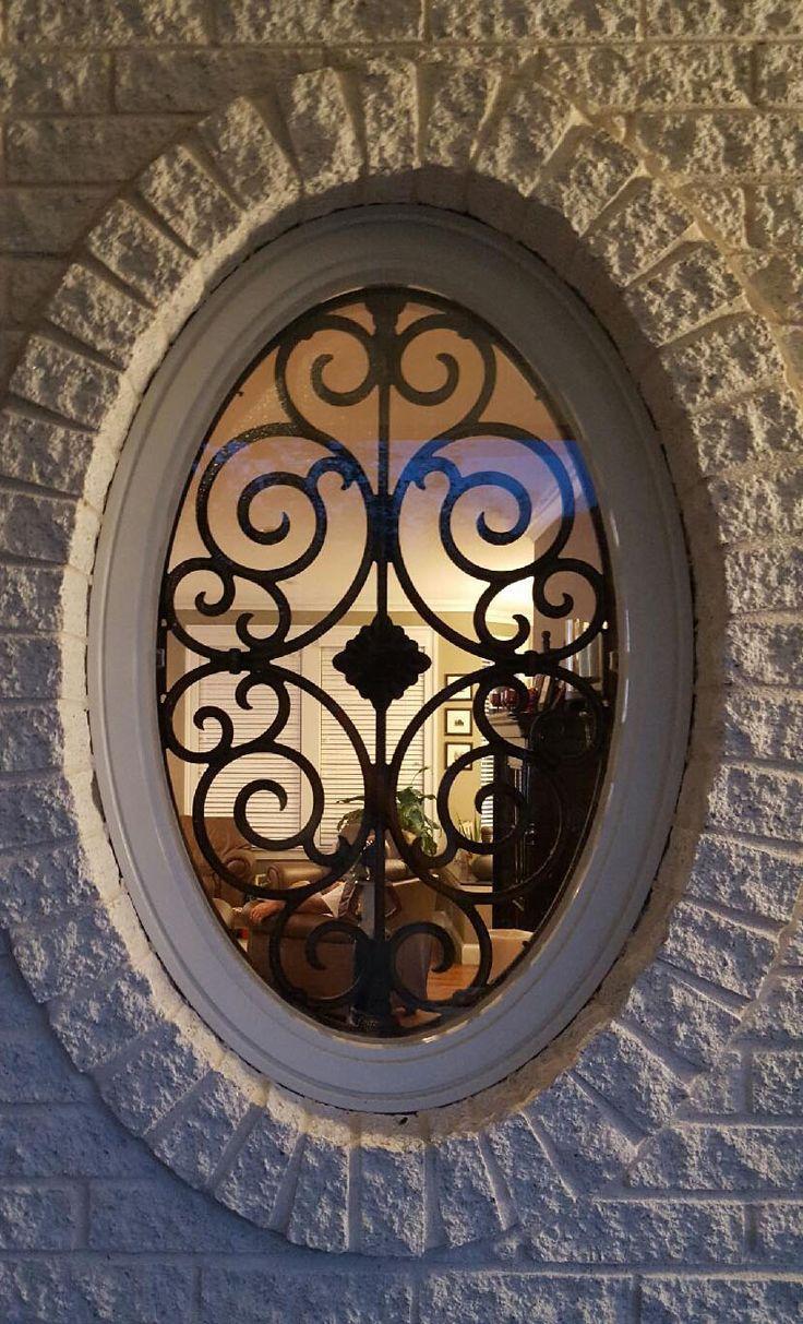 Решетка на окно овальная