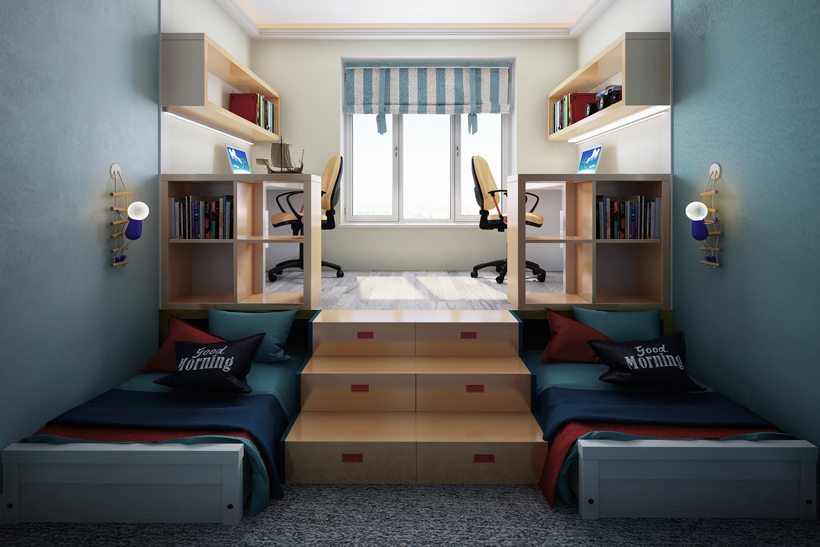 Подиум в комнате подростков