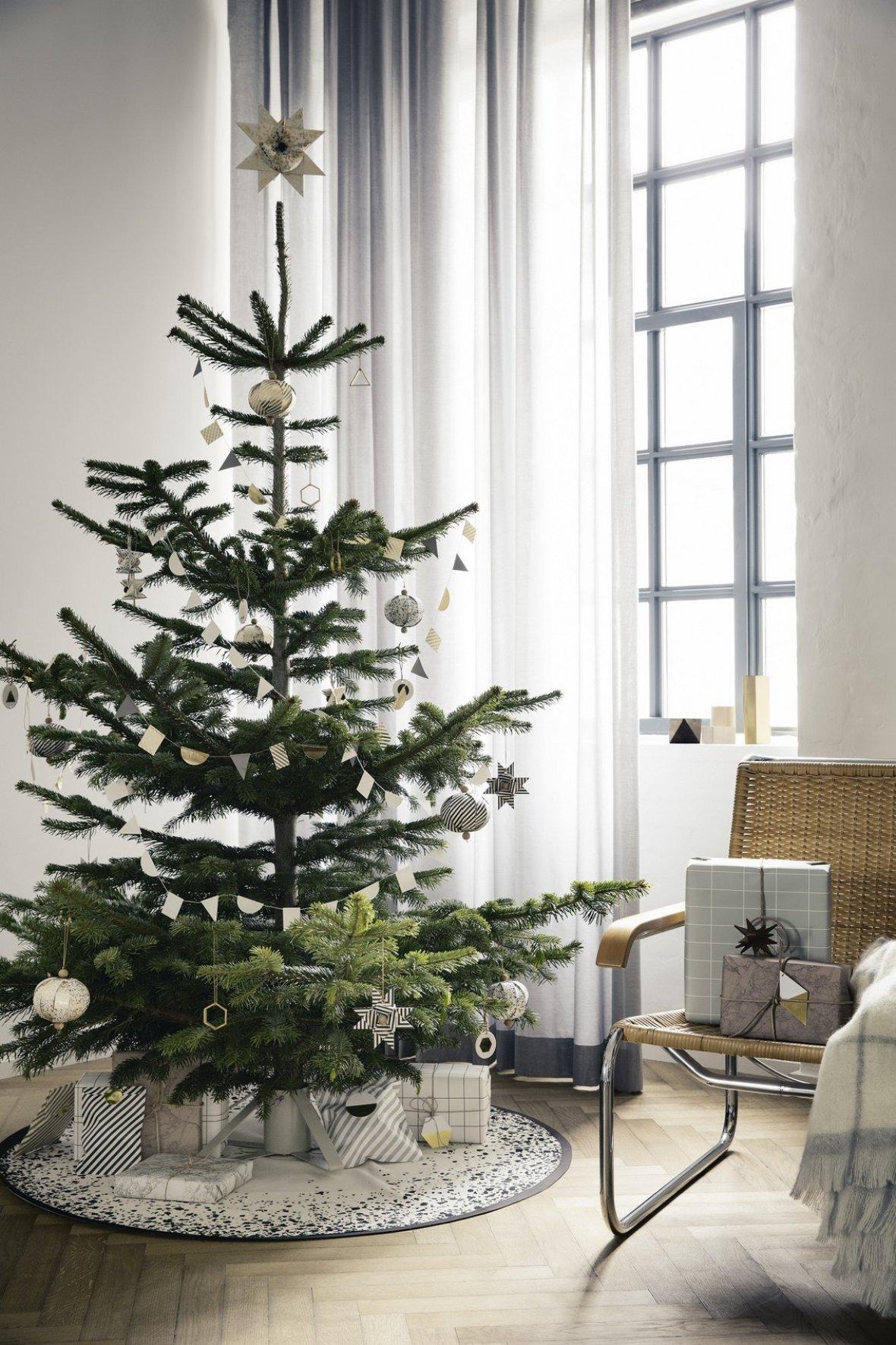 Оформление новогодней елки в стиле ретро