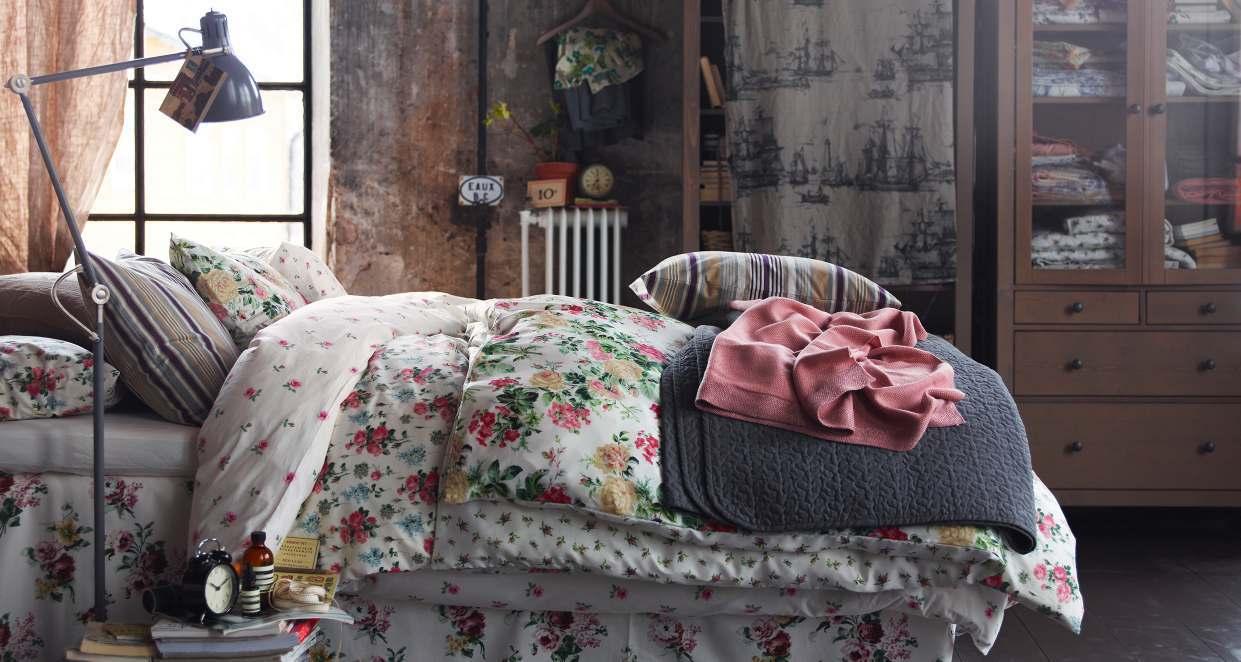 Отделка спальни в стиле шебби-шик