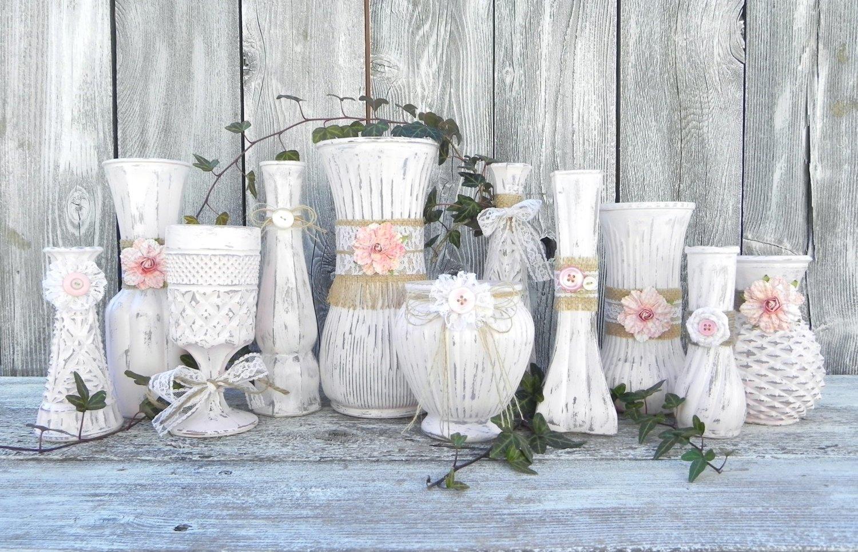 Красивые вазы в стиле шебби-шик