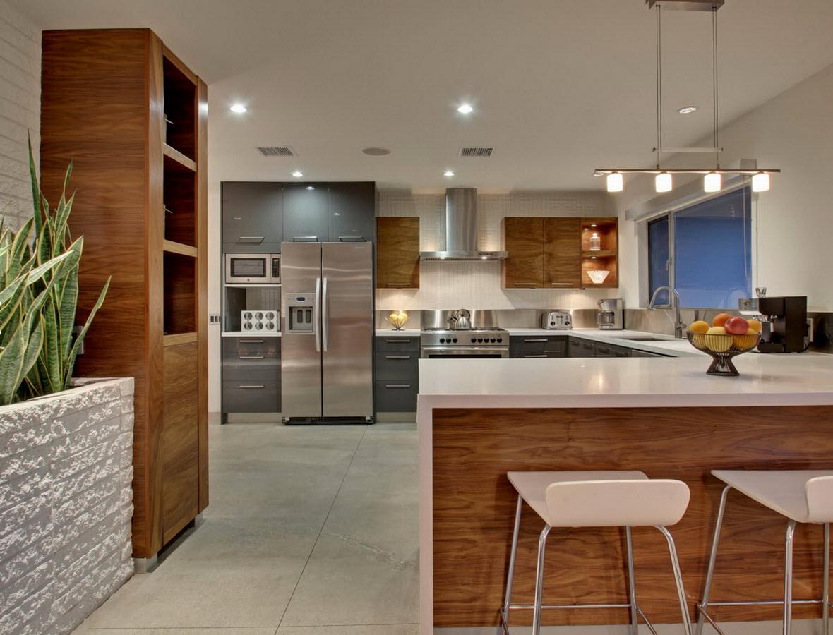 Кухонные шкафы цвета орех