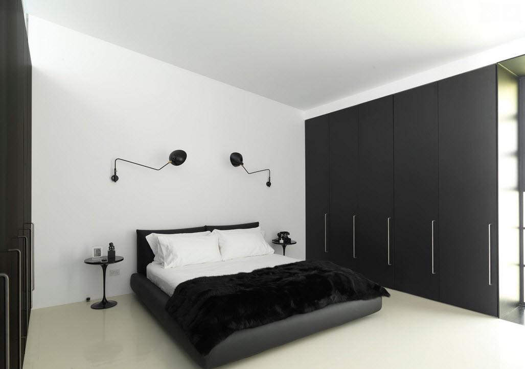 Черный шкаф-купе в гостиной