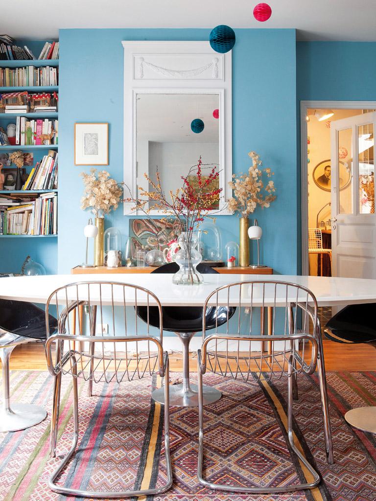 Голубая гостиная в современном стиле