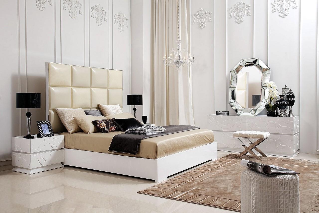 Бежево-белая спальня по фэн-шуй