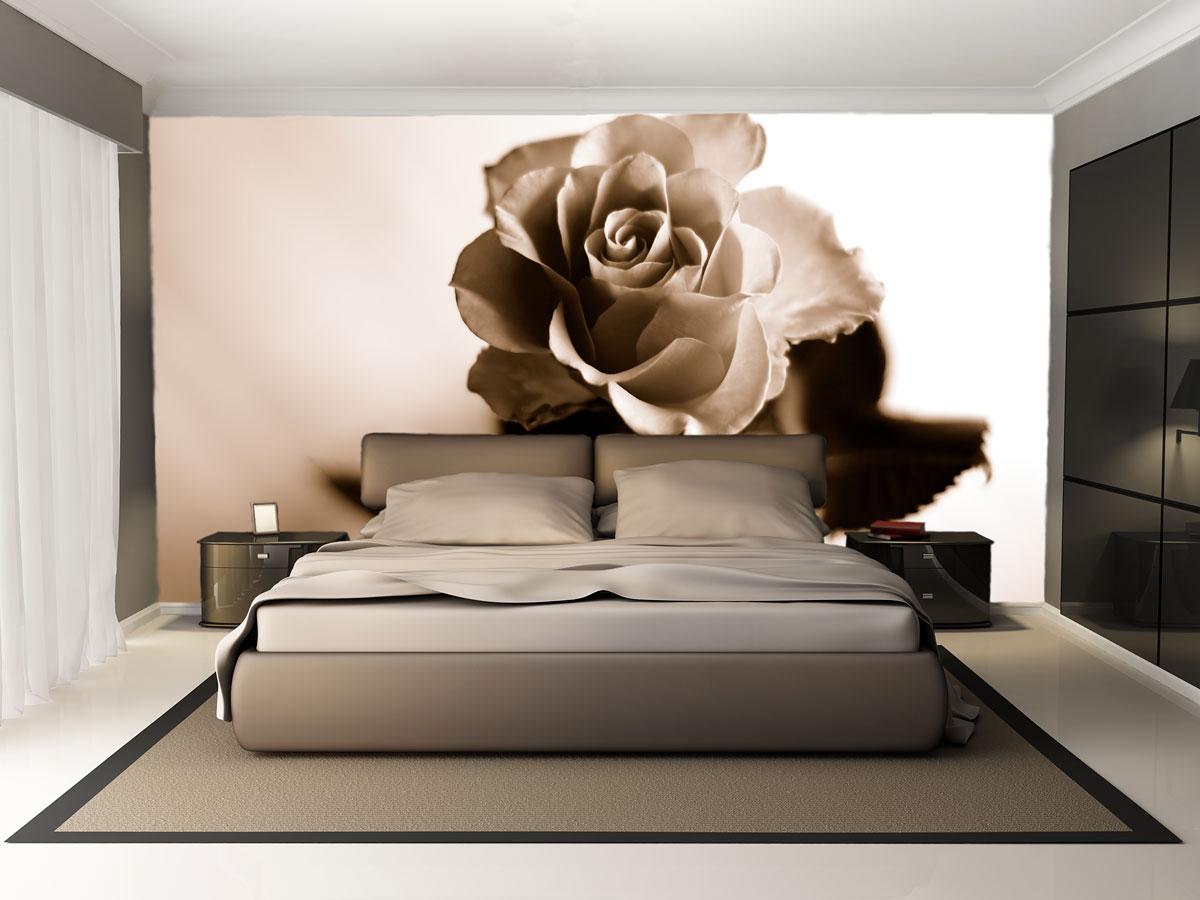 Стильные фотообои с розой
