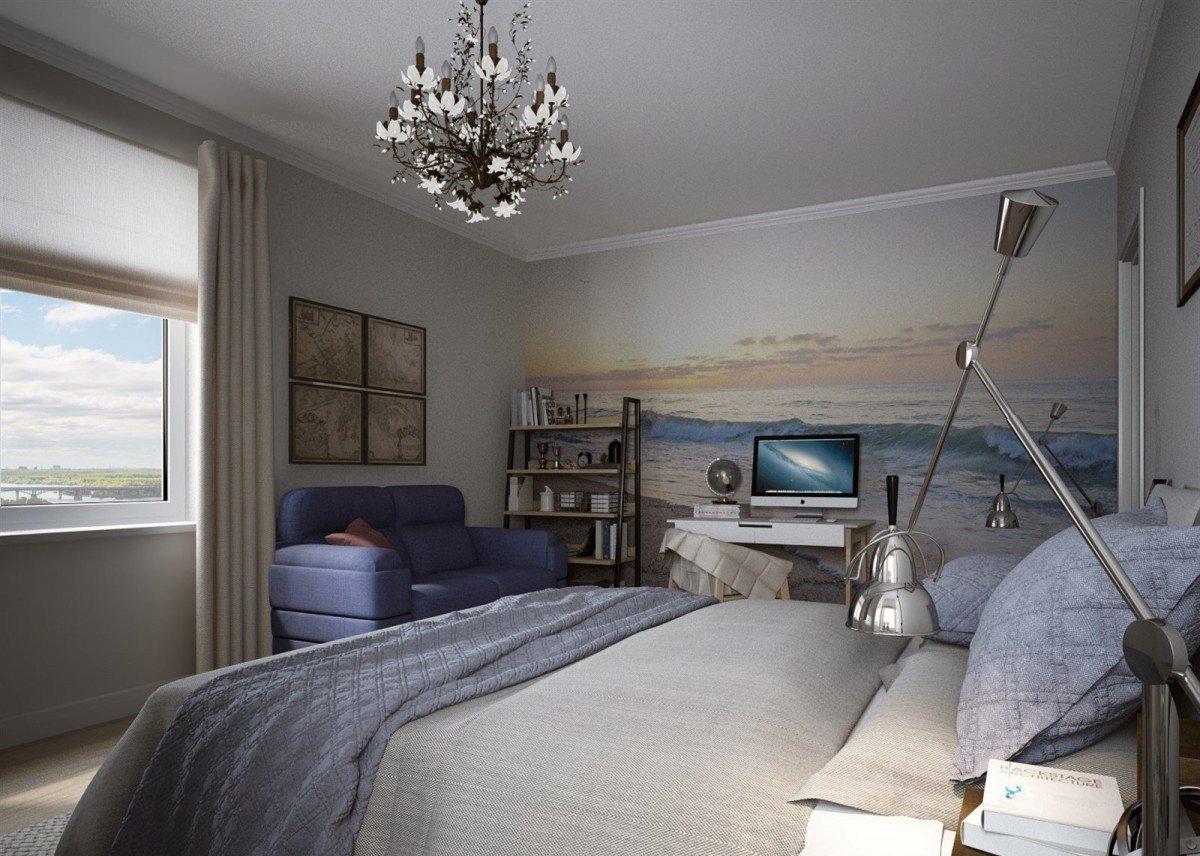 Фотообои с морем в спальне