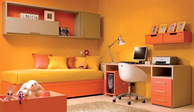 Оранжево-желтая детская