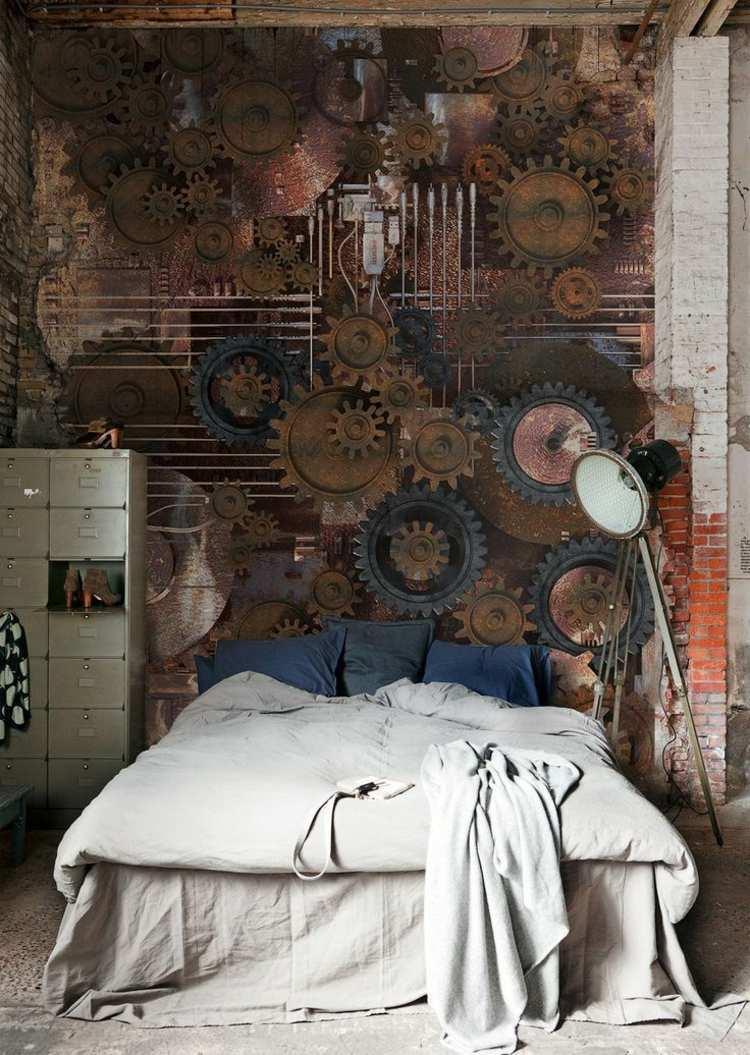Спальня в стиле стимпанк