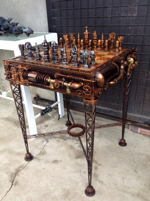 Шахматный стол в стиле стимпанк