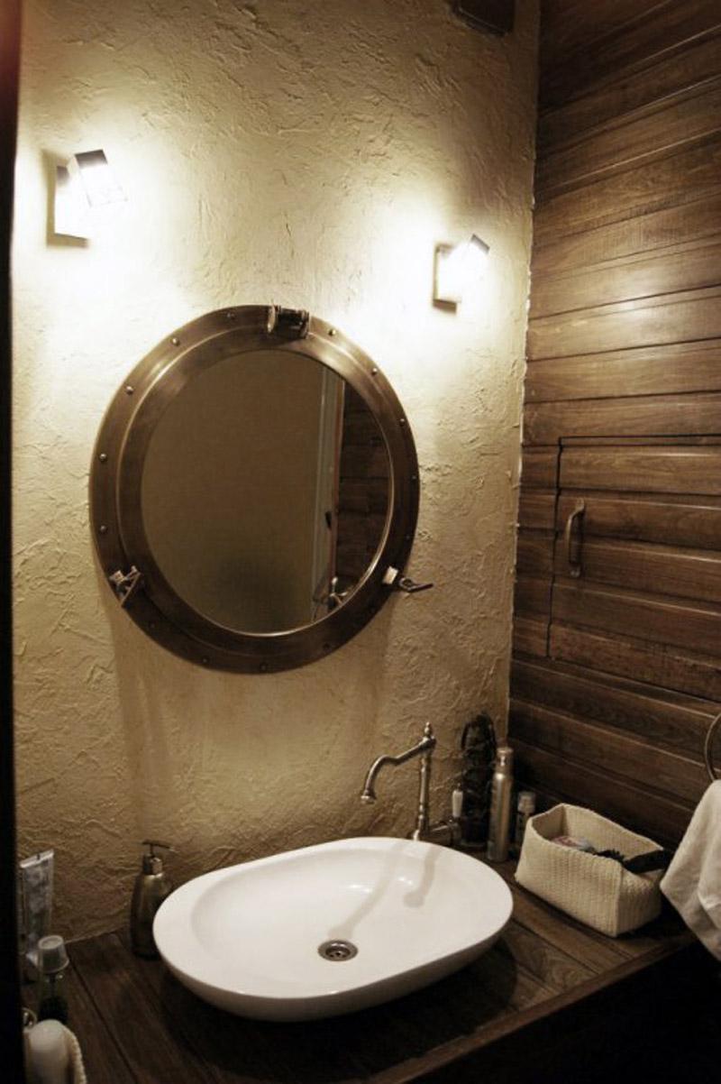 Интерьер ванной в стиле стимпанк
