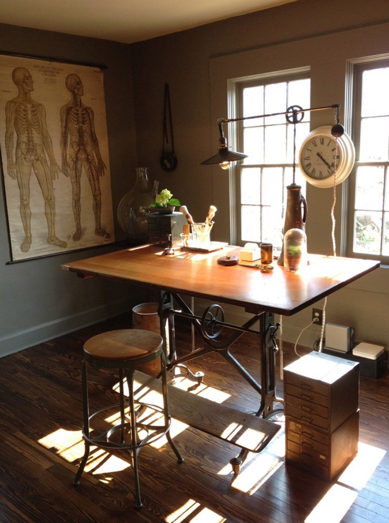 Интерьер кабинета в стиле стимпанк