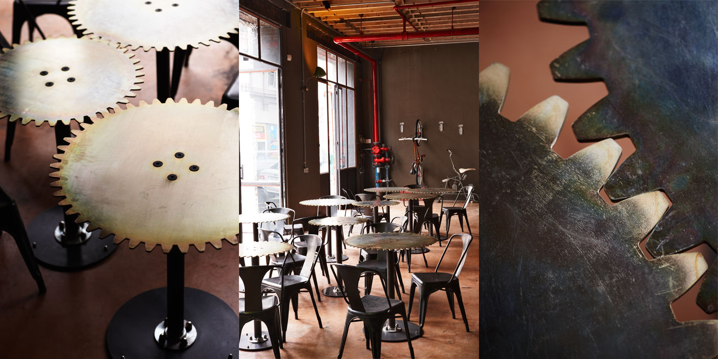 Интерьер кафе в стиле стимпанк